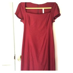 Sleek it Out ModCloth Red Dress Size L